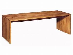 Bureau En Bois Massif : bureau table en bois massif ponte by e15 design philipp mainzer ~ Teatrodelosmanantiales.com Idées de Décoration