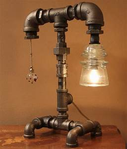 Pipe Lamp Diy With Recycled Pipe Parts