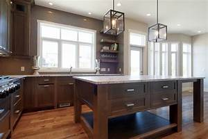 Grey Stained Kitchen - Contemporary - Kitchen - Calgary