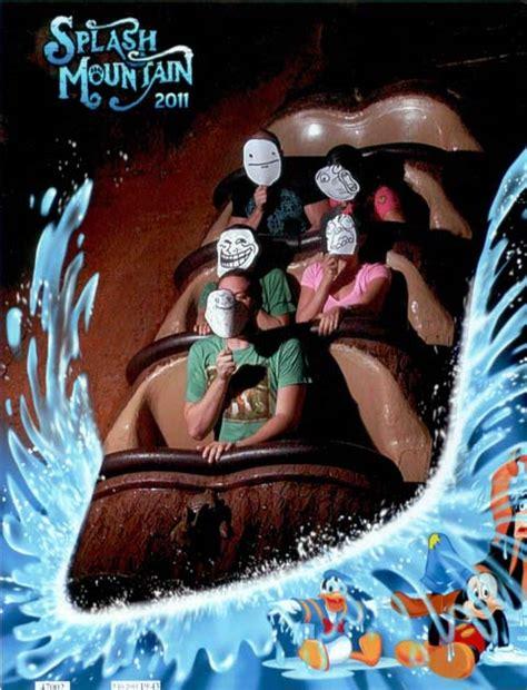 funny   splash mountain