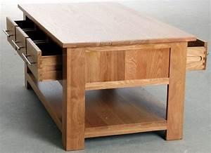 Table Chene Massif : table basse 6 tiroirs en ch ne massif ~ Melissatoandfro.com Idées de Décoration