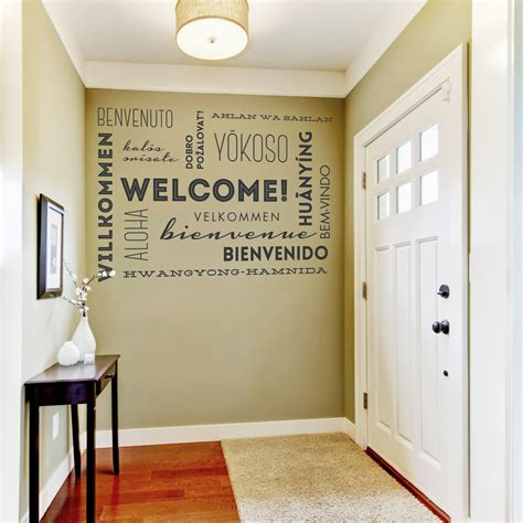 Welcome Wall Words Wall Quote Decal. Apt Decorating. Outdoor Decorative Lights. Clean Room Fixtures. Wall Lights For Living Room