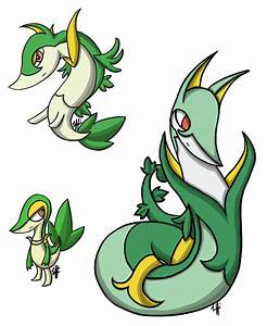 Snivy Evolution Line by yellowy-yellow on DeviantArt