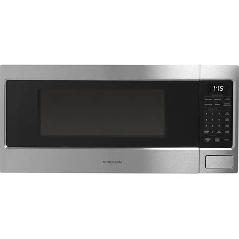 monogram  cu ft mid size microwave black