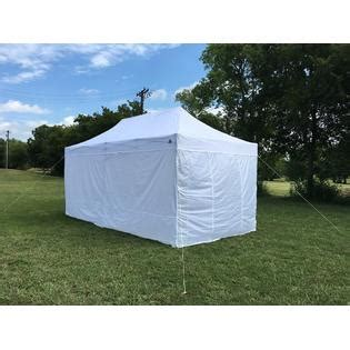 delta canopy fswht  fs model white solid walls pop  canopy party tent gazebo ez