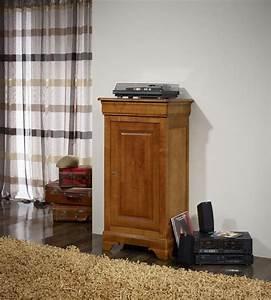 petit fromager en merisier massif de style louis philippe With petit meuble merisier louis philippe