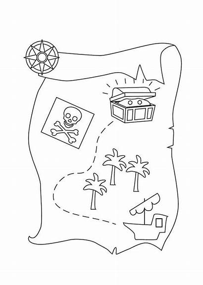 Treasure Map Coloring Pages Pirate Printable Colouring