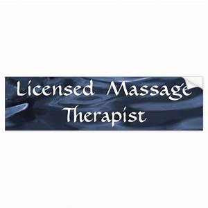 licensed massage therapist blue bumper stickers zazzle With licensed massage therapist