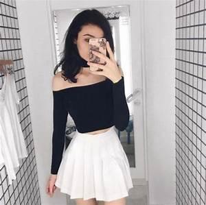 white pleated tennis skirt   Tumblr