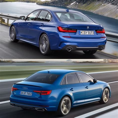 photo comparison g20 bmw 3 series facelifted audi a4