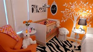 Cute Design For Girls Baby Rooms With Orange Style, baby