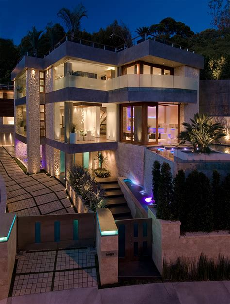 ultimate party house  beverly hills modern house designs