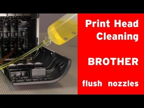 How to clean Brother inkjet printer´s print head clogged