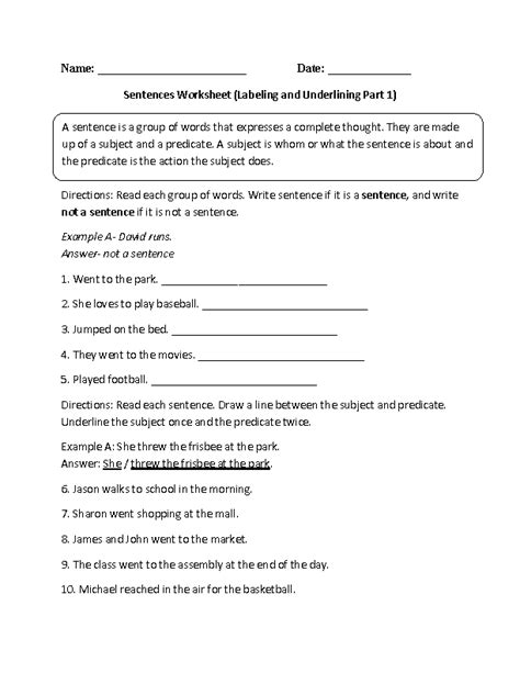 17 Best Images Of Simple Sentence Worksheets 6th Grade  7th Grade Sentences Worksheets