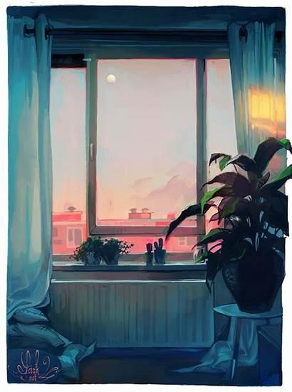 Loish Sunset Deviantart Living Window Drawing Aesthetic