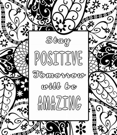 Coloring Adult Pages Adults Quote Inspirational Positive