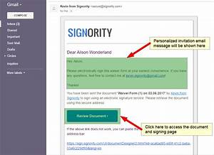 sign documents online as recipients signority esignature With sign the document online