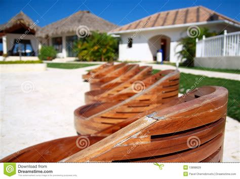 wooden chairs  swimming pool royalty  stock images