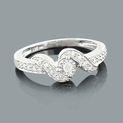 cheap engagement rings sterling silver ring 0 25ct