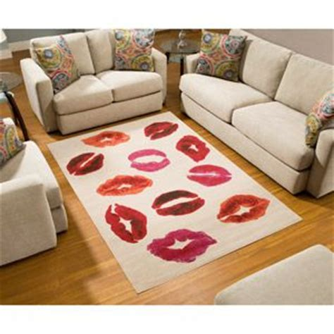 terra kiss rectangle area rug white orange red love this