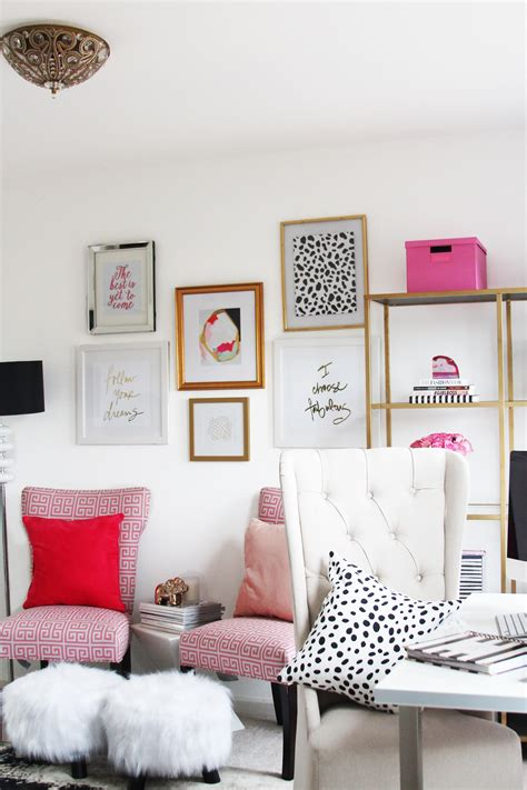 meagan wards girly chic home office office  sayeh