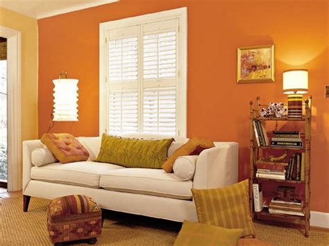 Paint Wall Orange Colors For Living Rooms Home Combo