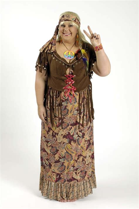 mode hippie kostuem kleid grosse groessen fuer mollige damen