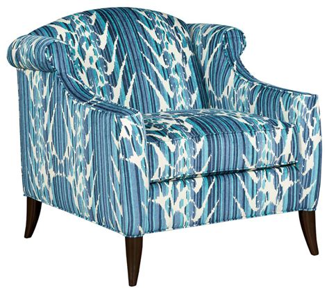 coco ikat club chair blue contemporary armchairs and