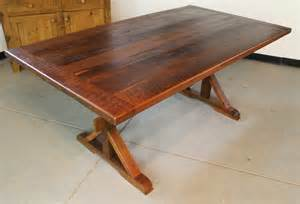 kitchen islands with drop leaf rustic trestle table with 4in bread board ends ecustomfinishes