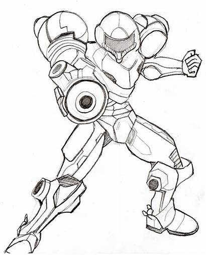 Smash Bros Coloring Super Pages Brothers Samus