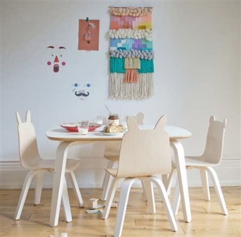 kids play table and chairs collection from oeuf