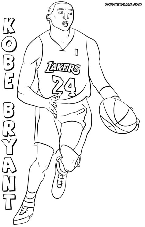 kobe bryant coloring pages coloring pages