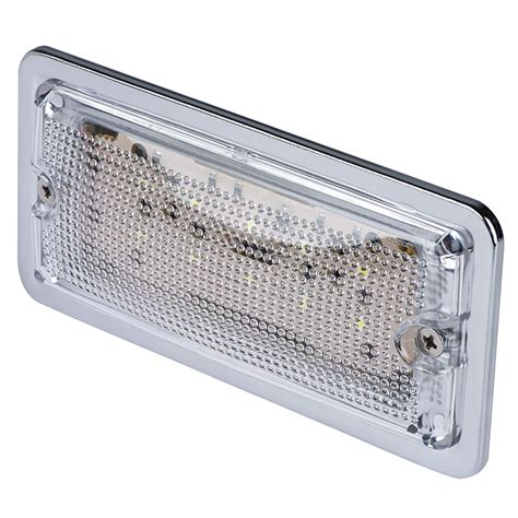 5 75 rectangular led dome light fixture w chrome housing