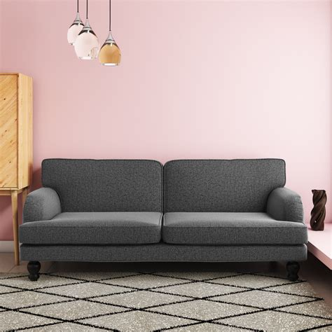 3 Seater Sofa Bed by Amelia 3 Seater Sofa Bed In Charcoal Grey Sof033