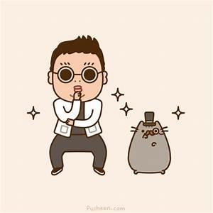 gangnam style pusheen cat gif | WiffleGif