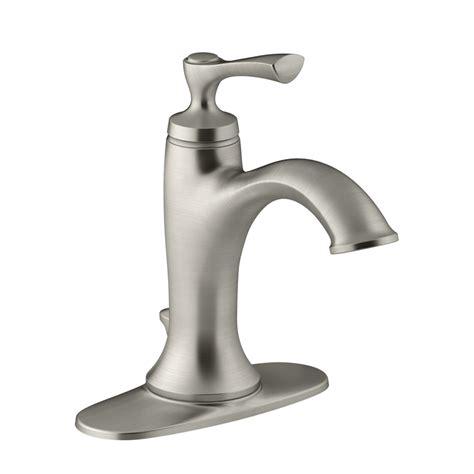 Kohler Elliston Faucet Centerset by Shop Kohler Elliston Brushed Nickel 1 Handle Single 4