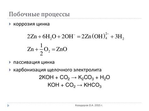Лекция 3. Металлвоздушные электрохимические технологии