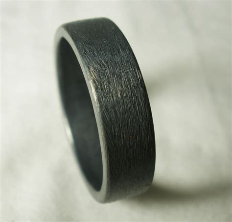 buy a made mens wedding ring rustic unique simple engagement recycled sterling silver