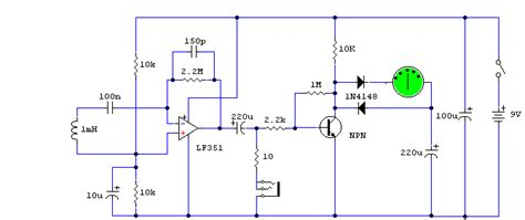 how to build electromagnetic field detector circuit diagram