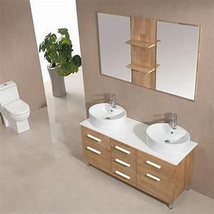 dis989sc meuble salle de bain scandinave produits et With miroir salle de bain chene clair