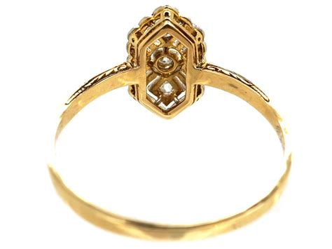 deco gold deco 18ct gold ring the antique jewellery