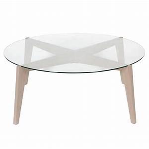 Table Ronde Verre Et Bois : table basse ronde verre et bois le bois chez vous ~ Teatrodelosmanantiales.com Idées de Décoration