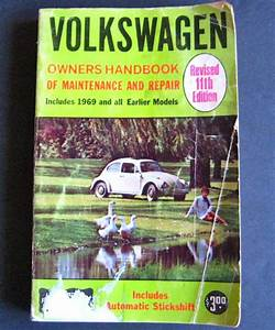 Purchase Vintage Volkswagen Owners Handbook Maintenance
