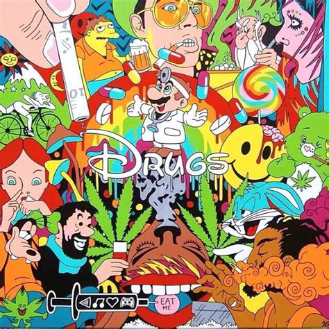 Stoner Room Decor Ideas by Drugs Trippy Mj Pinterest Disney Cartoon And Trippy
