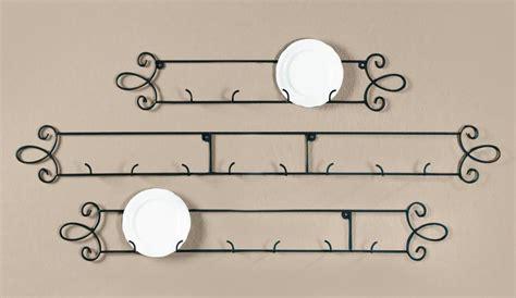 augusta black horizontal plate holder rack wall mount