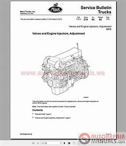Mack Mp8 Service Manuals And Diagrams