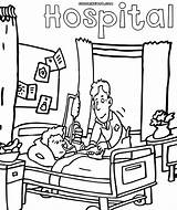 Hospital Coloring Pages Drawing Building Getdrawings Hospital4 sketch template