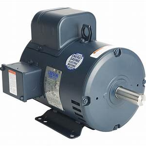 Leeson Reversible Electric Motor  U2014 5 Hp  3 450 Rpm  208