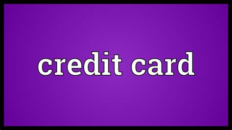 A balance transfer credit card is a credit card that lets you transfer your existing balance to that card from another card. Credit card Meaning - Advance On Pay