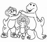 Barney Coloring Friends Printable Getcoloringpages sketch template